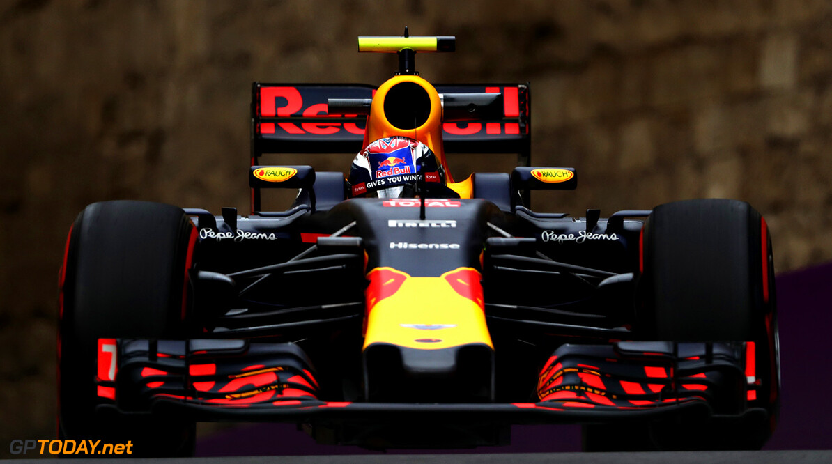 BAKU, AZERBAIJAN - JUNE 17: Max Verstappen of the Netherlands driving the (33) Red Bull Racing Red Bull-TAG Heuer RB12 TAG Heuer on track  during practice for the European Formula One Grand Prix at Baku City Circuit on June 17, 2016 in Baku, Azerbaijan.  (Photo by Mark Thompson/Getty Images) // Getty Images / Red Bull Content Pool  // P-20160617-01678 // Usage for editorial use only // Please go to www.redbullcontentpool.com for further information. //  European F1 Grand Prix - Practice Mark Thompson  Azerbaijan  P-20160617-01678
