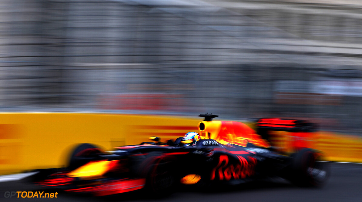 BAKU, AZERBAIJAN - JUNE 17: Daniel Ricciardo of Australia driving the (3) Red Bull Racing Red Bull-TAG Heuer RB12 TAG Heuer on track during practice for the European Formula One Grand Prix at Baku City Circuit on June 17, 2016 in Baku, Azerbaijan.  (Photo by Mark Thompson/Getty Images) // Getty Images / Red Bull Content Pool  // P-20160617-01650 // Usage for editorial use only // Please go to www.redbullcontentpool.com for further information. //  European F1 Grand Prix - Practice Mark Thompson  Azerbaijan  P-20160617-01650