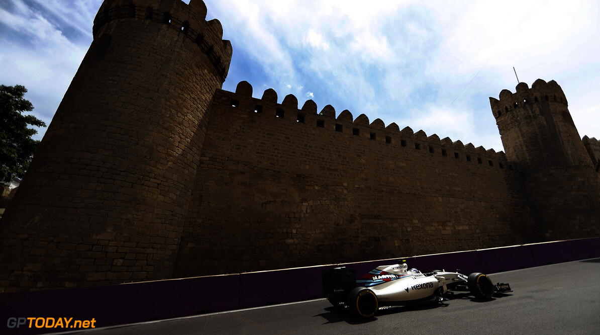 Baku City Circuit, Baku, Azerbaijan. Friday 17 June 2016. Valtteri Bottas, Williams FW38 Mercedes. Photo: Glenn Dunbar/Williams ref: Digital Image _V2I7436      Action