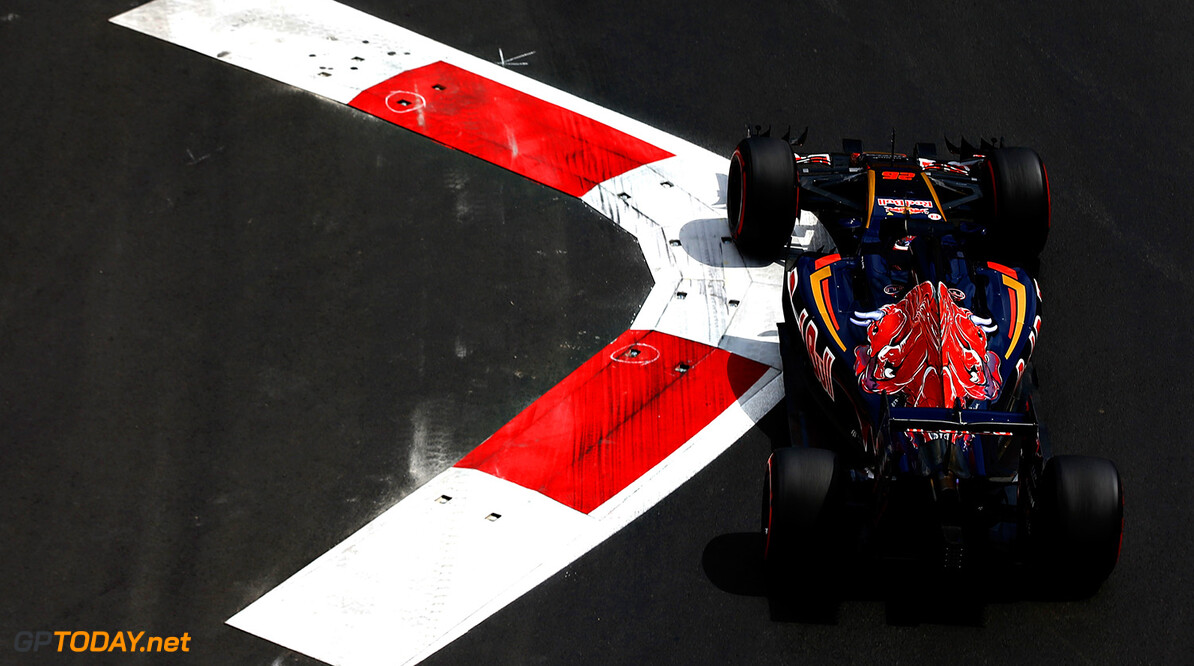 BAKU, AZERBAIJAN - JUNE 17: Daniil Kvyat of Russia driving the (26) Scuderia Toro Rosso STR11 Ferrari 060/5 turbo on track during practice for the European Formula One Grand Prix at Baku City Circuit on June 17, 2016 in Baku, Azerbaijan.  (Photo by Charles Coates/Getty Images) // Getty Images / Red Bull Content Pool  // P-20160617-01057 // Usage for editorial use only // Please go to www.redbullcontentpool.com for further information. //  European F1 Grand Prix - Practice Charles Coates  Azerbaijan  P-20160617-01057