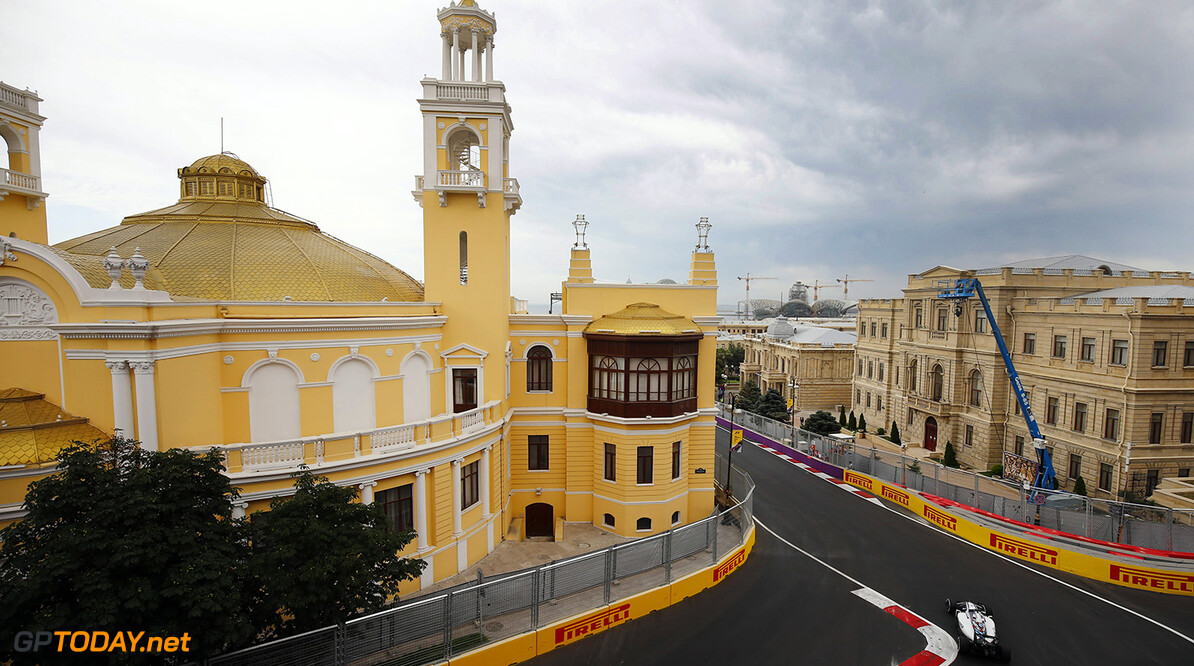 Baku City Circuit, Baku, Azerbaijan. Friday 17 June 2016. Felipe Massa, Williams FW38 Mercedes. Photo: Andrew Hone/Williams ref: Digital Image _ONY0226      Action