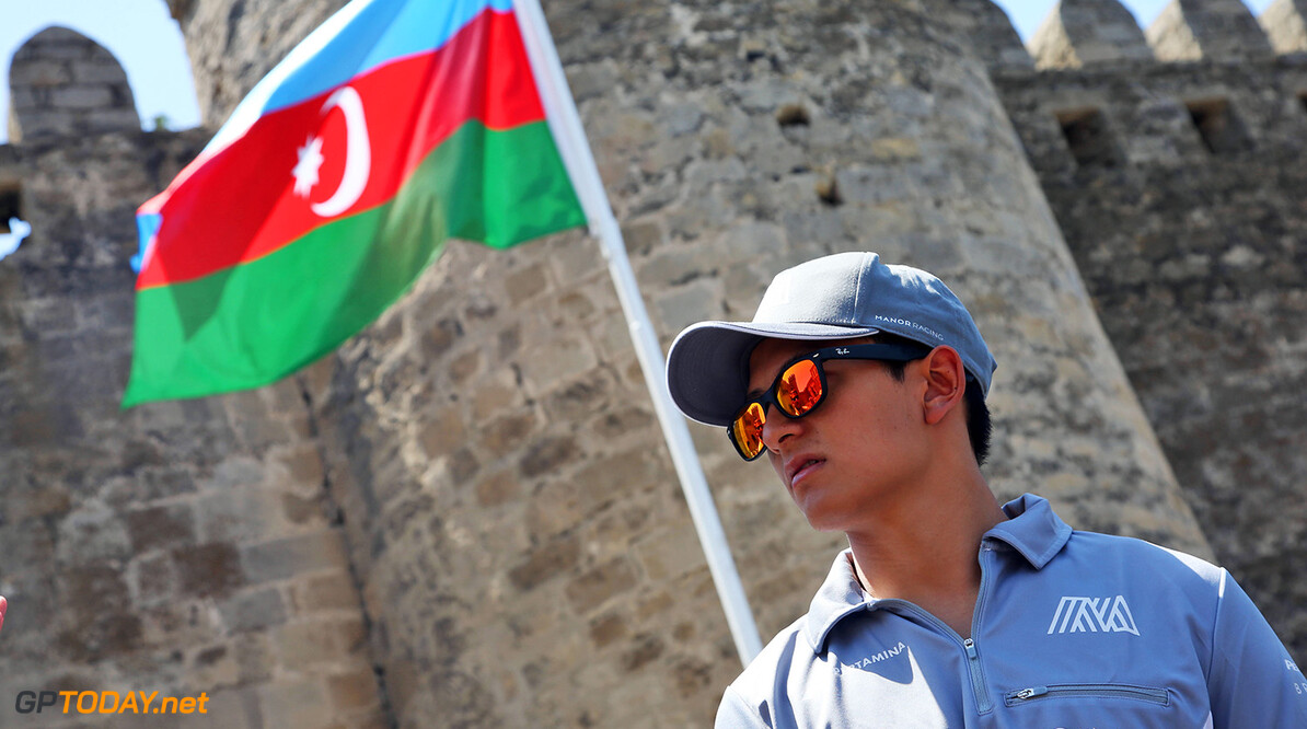 Formula One World Championship Rio Haryanto (IDN) Manor Racing walks the circuit. 16.06.2016. Formula 1 World Championship, Rd 8, European Grand Prix, Baku Street Circuit, Azerbaijan, Preparation Day. Motor Racing - Formula One World Championship - European Grand Prix - Preparation Day - Baku, Azerbaijan Manor Racing Baku Azerbaijan  Formel1 Formel F1 Formula 1 Formula1 GP Grand Prix one Thursday Portrait Circuit June Europe European Baku Azerbaijan 16 6 06 2016