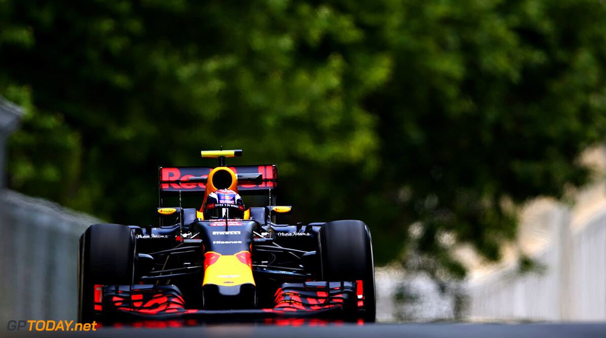 BAKU, AZERBAIJAN - JUNE 17: Max Verstappen of the Netherlands driving the (33) Red Bull Racing Red Bull-TAG Heuer RB12 TAG Heuer on track during practice for the European Formula One Grand Prix at Baku City Circuit on June 17, 2016 in Baku, Azerbaijan.  (Photo by Dan Istitene/Getty Images) // Getty Images / Red Bull Content Pool  // P-20160617-00577 // Usage for editorial use only // Please go to www.redbullcontentpool.com for further information. //  European F1 Grand Prix - Practice Dan Istitene  Azerbaijan  P-20160617-00577