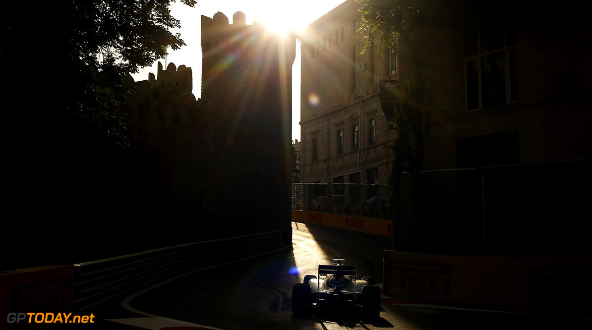 Baku City Circuit, Baku, Azerbaijan. Sunday 19 June 2016. Valtteri Bottas, Williams FW38 Mercedes. Photo: Sam Bloxham/Williams ref: Digital Image _SLA4059  Steven Tee    Action