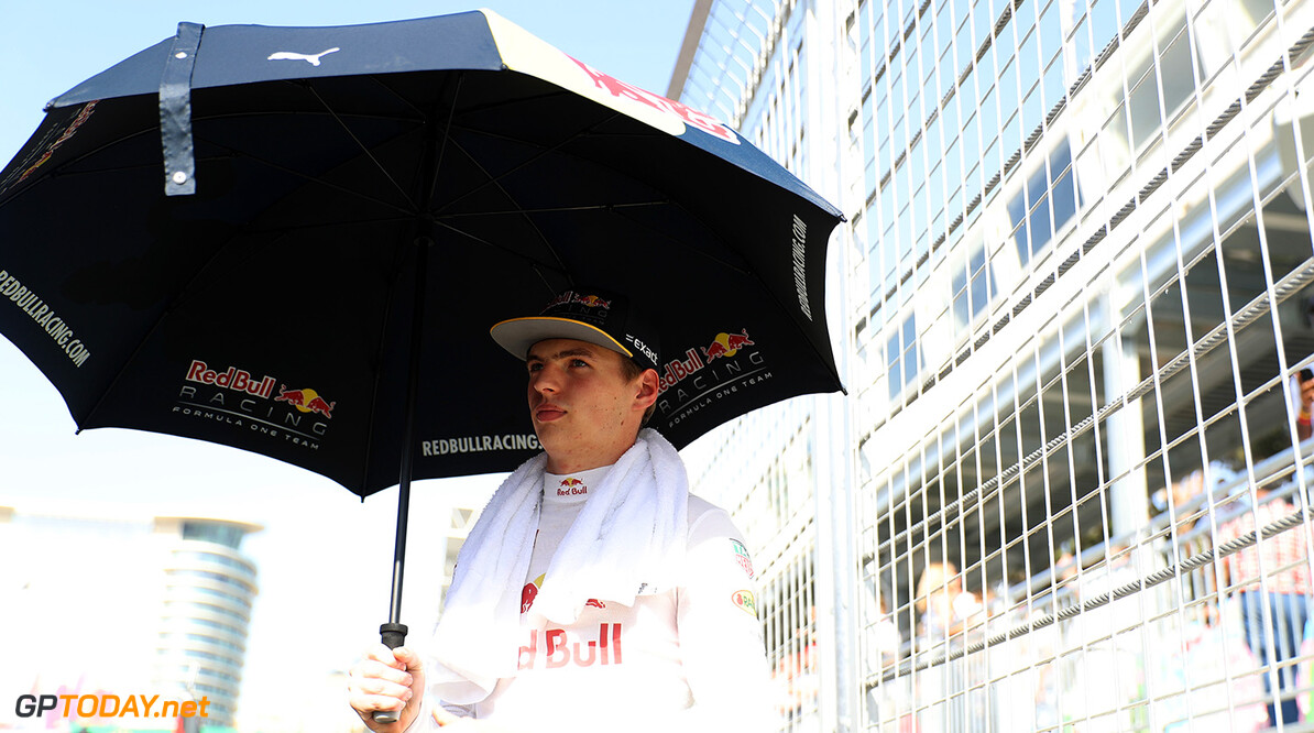 BAKU, AZERBAIJAN - JUNE 19:  Max Verstappen of Netherlands and Red Bull Racing on the grid before the European Formula One Grand Prix at Baku City Circuit on June 19, 2016 in Baku, Azerbaijan.  (Photo by Mark Thompson/Getty Images) // Getty Images / Red Bull Content Pool  // P-20160619-00821 // Usage for editorial use only // Please go to www.redbullcontentpool.com for further information. //  European F1 Grand Prix Mark Thompson  Azerbaijan  P-20160619-00821