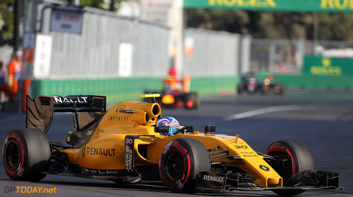 Formula One World Championship Jolyon Palmer (GBR) Renault Sport F1 Team RS16. European Grand Prix, Sunday 19th June 2016. Baku City Circuit, Azerbaijan. Motor Racing - Formula One World Championship - European Grand Prix - Race Day - Baku, Azerbaijan Renault Sport Formula One Team Baku Azerbaijan  Formula One Formula 1 F1 GP Grand Prix Circuit Europe European Baku Azerbaijan JM585 Action Track GP1608d