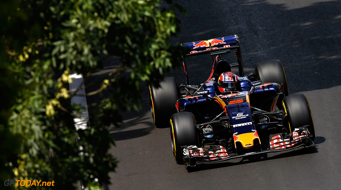 BAKU, AZERBAIJAN - JUNE 18: Daniil Kvyat of Russia driving the (26) Scuderia Toro Rosso STR11 Ferrari 060/5 turbo on track during final practice before the European Formula One Grand Prix at Baku City Circuit on June 18, 2016 in Baku, Azerbaijan.  (Photo by Charles Coates/Getty Images) // Getty Images / Red Bull Content Pool  // P-20160618-01279 // Usage for editorial use only // Please go to www.redbullcontentpool.com for further information. //  European F1 Grand Prix - Qualifying Charles Coates  Azerbaijan  P-20160618-01279