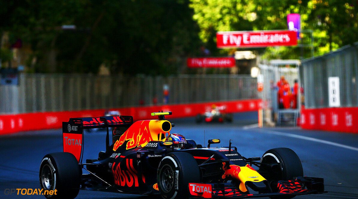 BAKU, AZERBAIJAN - JUNE 19:  Max Verstappen of the Netherlands drives the 6 Red Bull Racing Red Bull-TAG Heuer RB12 TAG Heuer during the European Formula One Grand Prix at Baku City Circuit on June 19, 2016 in Baku, Azerbaijan.  (Photo by Dan Istitene/Getty Images) // Getty Images / Red Bull Content Pool  // P-20160619-00962 // Usage for editorial use only // Please go to www.redbullcontentpool.com for further information. //  European F1 Grand Prix Dan Istitene  Azerbaijan  P-20160619-00962