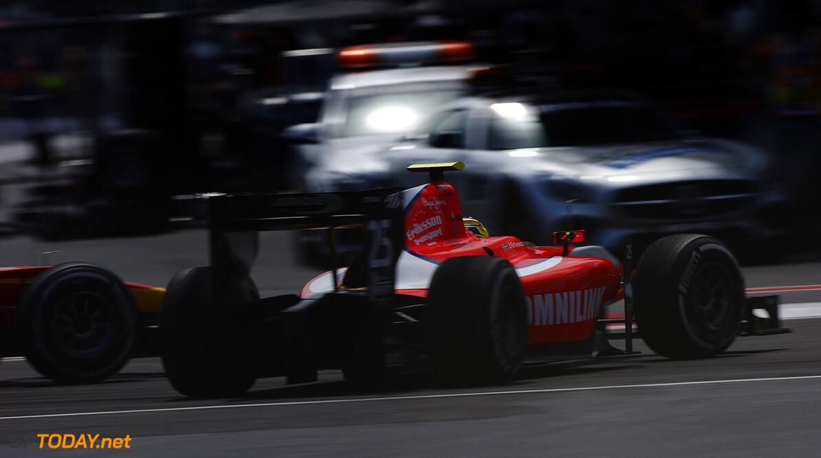 Jimmy Eriksson (SWE, Arden International)  Baku City Circuit, Baku, Azerbaijan. Sunday 19 June 2016. World Copyright: Sam Bloxham/LAT Photographic ref: Digital Image _SLA3231  Sam Bloxham    gp2 action race