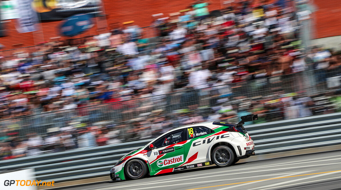 18 MONTEIRO Tiago (por) Honda Civic team Honda racing Jas action during the 2016 FIA WTCC World Touring Car Championship race of Portugal, Vila Real from July 24 to 26 - Photo Jorge Cunha / DPPI AUTO - WTCC PORTUGAL 2016 Jorge Cunha    Auto COURSE Motorsport championnat du monde circuit fia tourisme wtcc