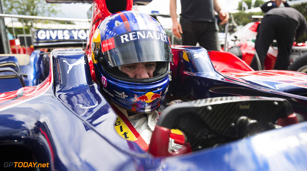 CHICHESTER, ENGLAND - JUNE 25:  Adrian Newey, the Chief Technical Officer of Red Bull Racing drives the Scuderia Toro Rosso STR03 at the Goodwood Festival of Speed on June 25, 2016 in Chichester, England.  (Photo by Andrew Hone/Getty Images for Red Bull Racing) // Getty Images / Red Bull Content Pool  // P-20160625-00597 // Usage for editorial use only // Please go to www.redbullcontentpool.com for further information. //  Goodwood Festival of Speed Andrew Hone  Azerbaijan  P-20160625-00597