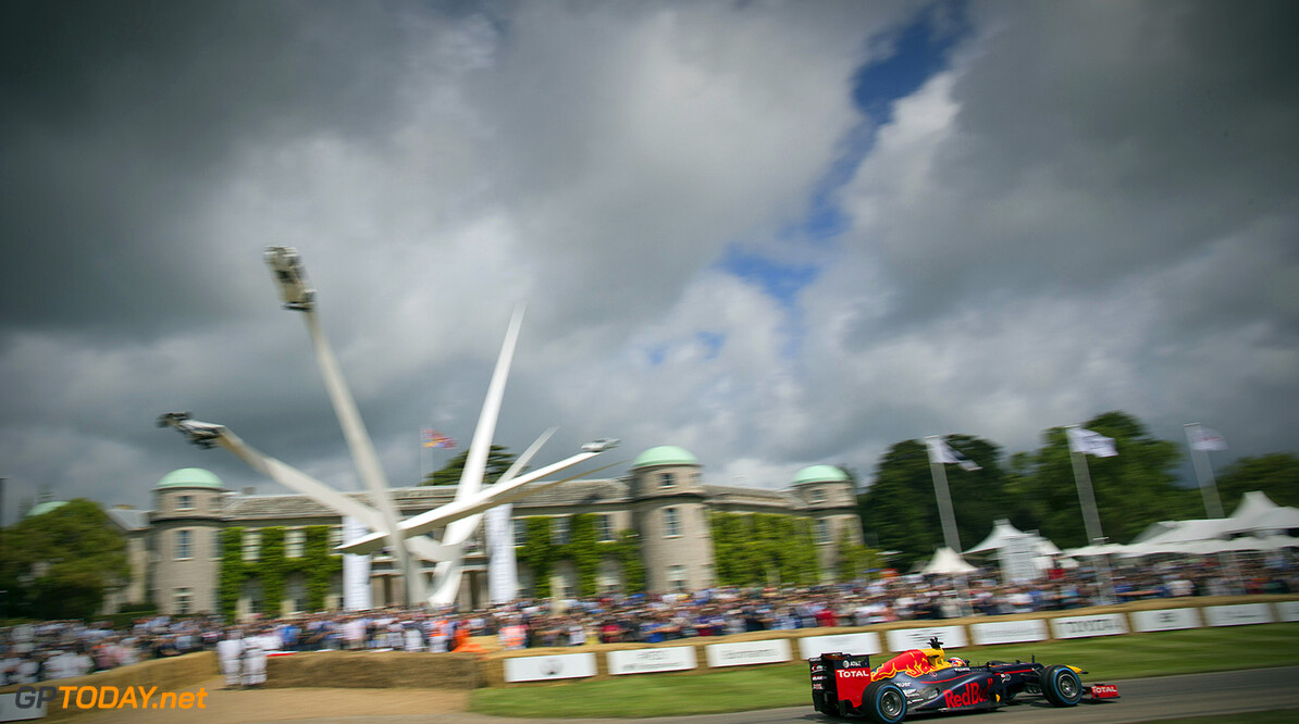 CHICHESTER, ENGLAND - JUNE 24:  Pierre Gasly of France and Red Bull Racing driving the RB8 at the Goodwood Festival of Speed on June 24, 2016 in Chichester, England.  (Photo by Andrew Hone/Getty Images for Red Bull Racing) // Getty Images/Red Bull Content Pool // P-20160624-11555 // Usage for editorial use only // Please go to www.redbullcontentpool.com for further information. //  Goodwood Festival of Speed Andrew Hone Goodwood House United Kingdom  P-20160624-11555