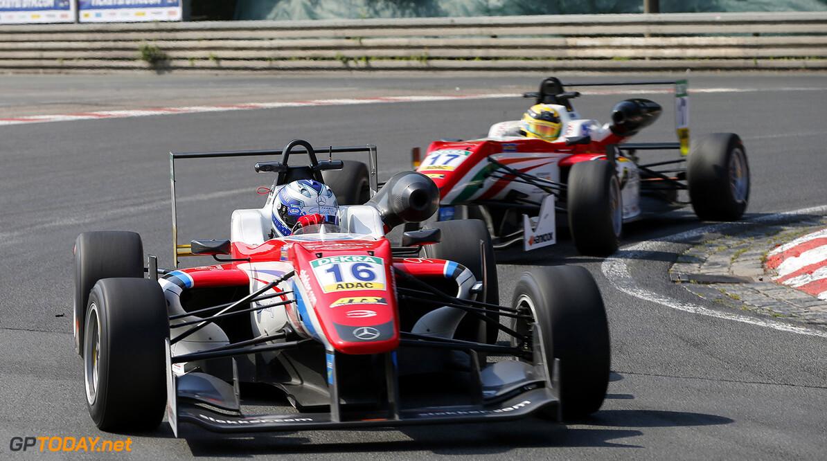 FIA Formula 3 European Championship, round 5, race 1, Norisring  16 Ralf Aron (EST, Prema Powerteam, Dallara F312 - Mercedes-Benz), FIA Formula 3 European Championship, round 5, race 1, Norisring (DEU), 24. - 26. June 2016 FIA Formula 3 European Championship 2016, round 5, race 1, Norisring (DEU) Thomas Suer N?rnberg Germany