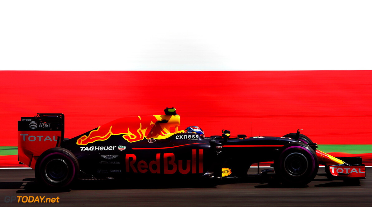 SPIELBERG, AUSTRIA - JULY 01:  Max Verstappen of the Netherlands driving the (33) Red Bull Racing Red Bull-TAG Heuer RB12 TAG Heuer on track during practice for the Formula One Grand Prix of Austria at Red Bull Ring on July 1, 2016 in Spielberg, Austria.  (Photo by Charles Coates/Getty Images) // Getty Images / Red Bull Content Pool  // P-20160701-01544 // Usage for editorial use only // Please go to www.redbullcontentpool.com for further information. //  F1 Grand Prix of Austria - Practice Charles Coates Spielberg Germany  P-20160701-01544