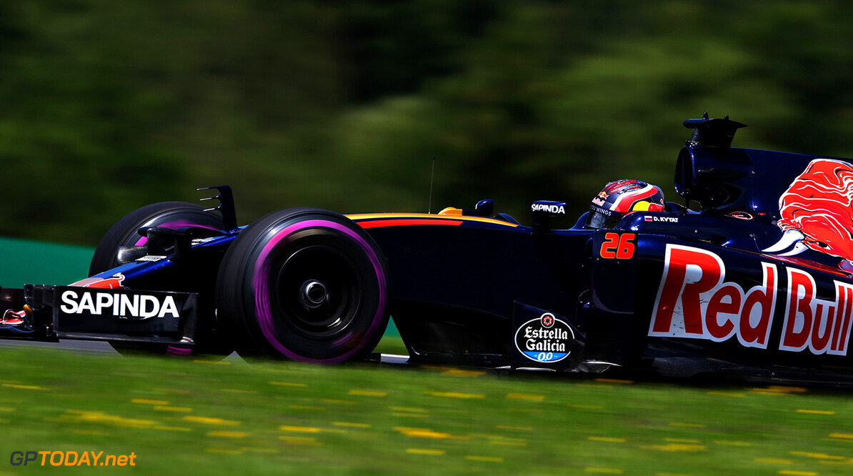 SPIELBERG, AUSTRIA - JULY 01: Daniil Kvyat of Russia driving the (26) Scuderia Toro Rosso STR11 Ferrari 060/5 turbo on track during practice for the Formula One Grand Prix of Austria at Red Bull Ring on July 1, 2016 in Spielberg, Austria.  (Photo by Charles Coates/Getty Images) // Getty Images / Red Bull Content Pool  // P-20160701-00965 // Usage for editorial use only // Please go to www.redbullcontentpool.com for further information. //  F1 Grand Prix of Austria - Practice Charles Coates Red Bull Ring Austria  P-20160701-00965