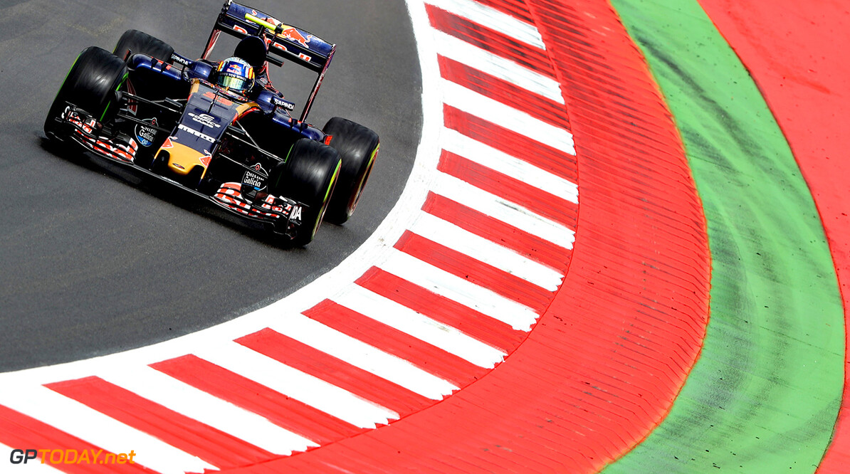 SPIELBERG, AUSTRIA - JULY 01: Carlos Sainz of Spain driving the (55) Scuderia Toro Rosso STR11 Ferrari 060/5 turbo on track during practice for the Formula One Grand Prix of Austria at Red Bull Ring on July 1, 2016 in Spielberg, Austria.  (Photo by Mark Thompson/Getty Images) // Getty Images / Red Bull Content Pool  // P-20160701-01487 // Usage for editorial use only // Please go to www.redbullcontentpool.com for further information. //  F1 Grand Prix of Austria - Practice Mark Thompson Red Bull Ring Austria  P-20160701-01487
