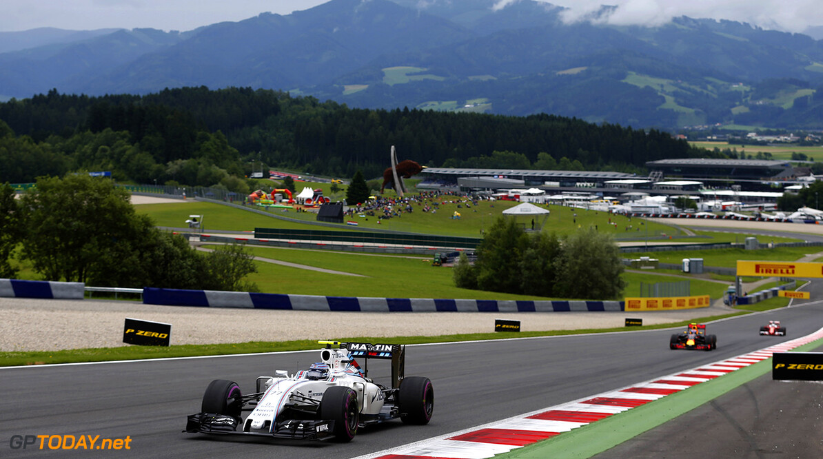 Red Bull Ring, Spielberg, Austria. Sunday 3 July 2016. Valtteri Bottas, Williams FW38 Mercedes. Photo: Steven Tee/Williams ref: Digital Image _X0W4069  Steven Tee    Action