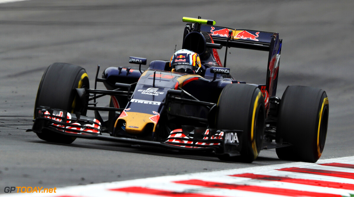 SPIELBERG, AUSTRIA - JULY 03: Carlos Sainz of Spain driving the (55) Scuderia Toro Rosso STR11 Ferrari 060/5 turbo on track during the Formula One Grand Prix of Austria at Red Bull Ring on July 3, 2016 in Spielberg, Austria.  (Photo by Mark Thompson/Getty Images) // Getty Images / Red Bull Content Pool  // P-20160703-01962 // Usage for editorial use only // Please go to www.redbullcontentpool.com for further information. //  F1 Grand Prix of Austria Mark Thompson Red Bull Ring Austria  P-20160703-01962