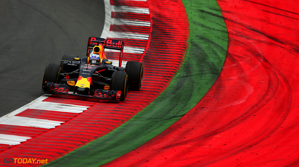 SPIELBERG, AUSTRIA - JULY 03:  Daniel Ricciardo of Australia drives the  Red Bull Racing Red Bull-TAG Heuer RB12 TAG Heuer during the Formula One Grand Prix of Austria at Red Bull Ring on July 3, 2016 in Spielberg, Austria.  (Photo by Dan Istitene/Getty Images) // Getty Images / Red Bull Content Pool  // P-20160703-02167 // Usage for editorial use only // Please go to www.redbullcontentpool.com for further information. //  F1 Grand Prix of Austria Dan Istitene Spielberg Germany  P-20160703-02167