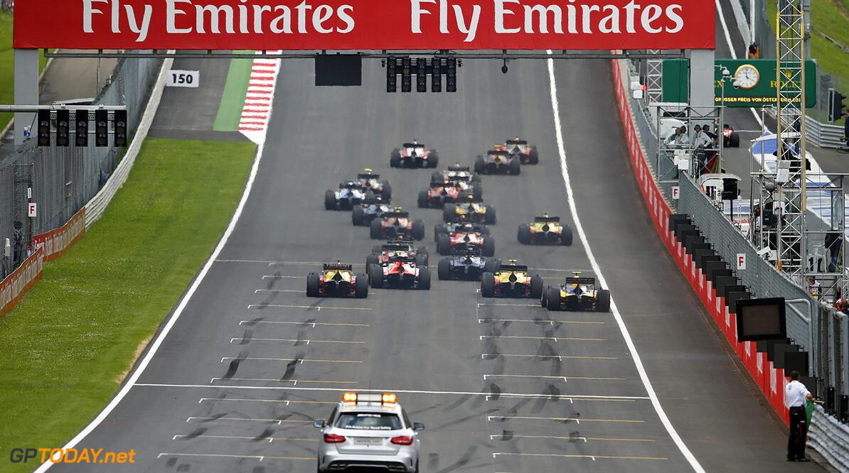 2016 GP2 Series Round 4 Red Bull Ring, Spielberg, Austria Saturday 2 July 2016 The start of the race. Photo: Glenn Dunbar/GP2 Series Media Service ref: Digital Image _W2Q1075      action Race One