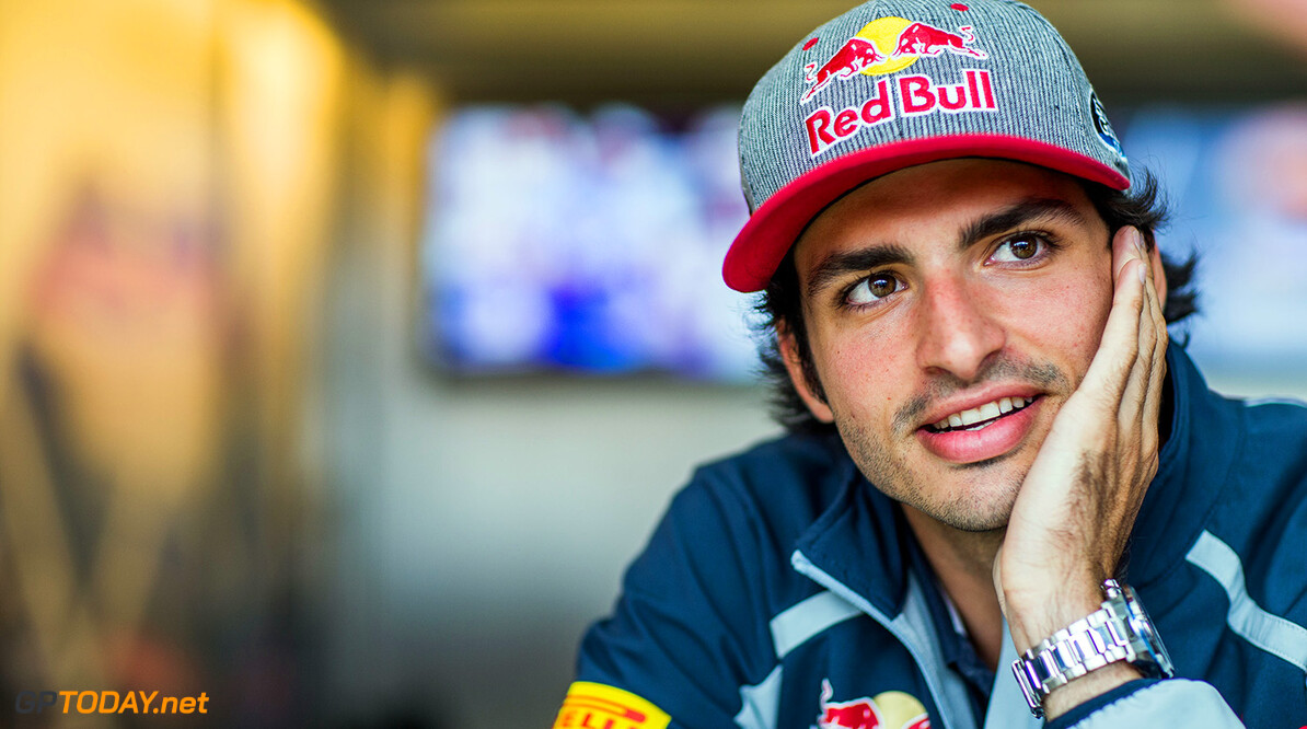 NORTHAMPTON, ENGLAND - JULY 07:  Carlos Sainz of Scuderia Toro Rosso and Spain during previews ahead of the Formula One Grand Prix of Great Britain at Silverstone on July 7, 2016 in Northampton, England.  (Photo by Peter Fox/Getty Images) // Getty Images / Red Bull Content Pool  // P-20160707-00945 // Usage for editorial use only // Please go to www.redbullcontentpool.com for further information. //  F1 Grand Prix of Great Britain - Previews Peter Fox Silverstone United Kingdom  P-20160707-00945