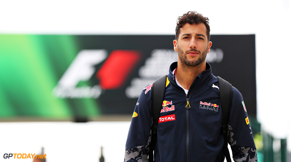 NORTHAMPTON, ENGLAND - JULY 07: Daniel Ricciardo of Australia and Red Bull Racing walks in the Paddock during previews ahead of the Formula One Grand Prix of Great Britain at Silverstone on July 7, 2016 in Northampton, England.  (Photo by Mark Thompson/Getty Images) // Getty Images / Red Bull Content Pool  // P-20160707-00567 // Usage for editorial use only // Please go to www.redbullcontentpool.com for further information. //  F1 Grand Prix of Great Britain - Previews Mark Thompson Silverstone United Kingdom  P-20160707-00567