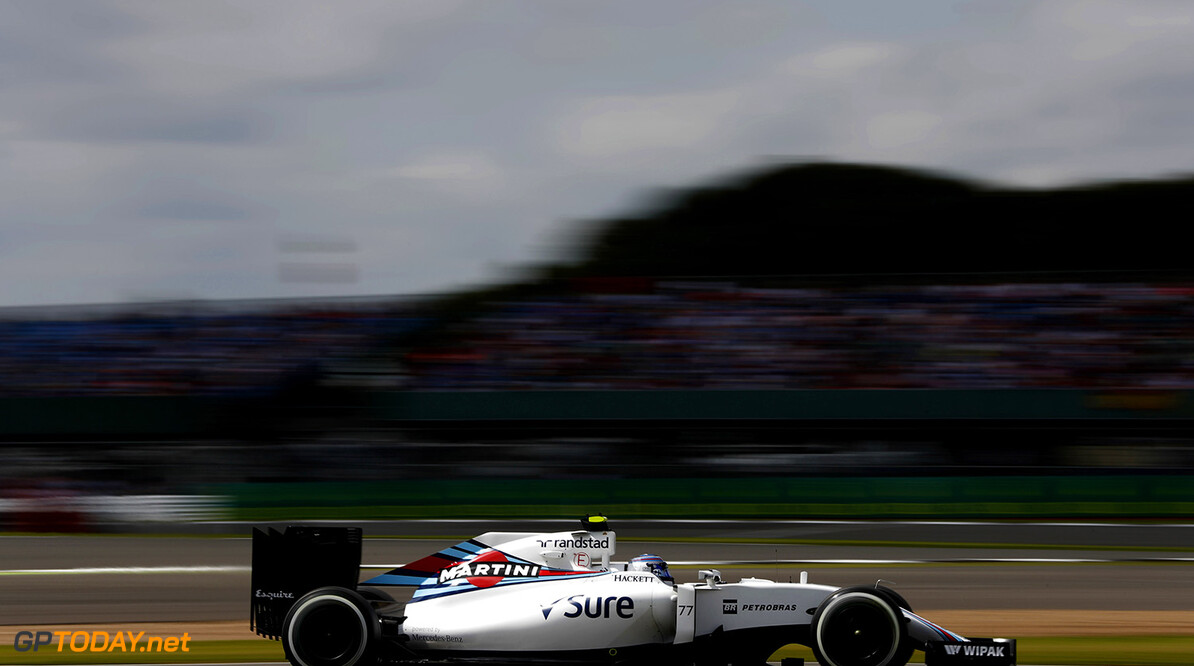 Silverstone, Northamptonshire, UK. Friday 8 July 2016. Valtteri Bottas, Williams FW38 Mercedes. Photo: Glenn Dunbar/Williams ref: Digital Image _V2I6696      Action