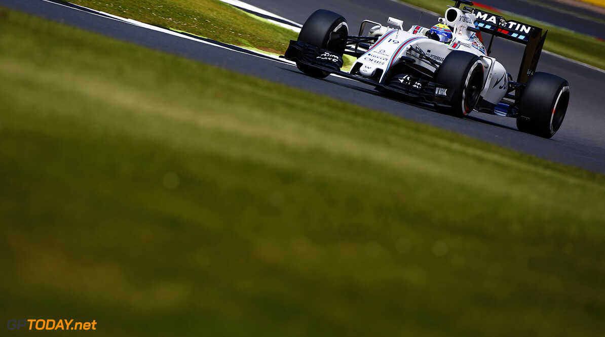 Silverstone, Northamptonshire, UK. Friday 8 July 2016. Felipe Massa, Williams FW38 Mercedes. Photo: Andrew Hone/Williams ref: Digital Image _ONY7504      Action