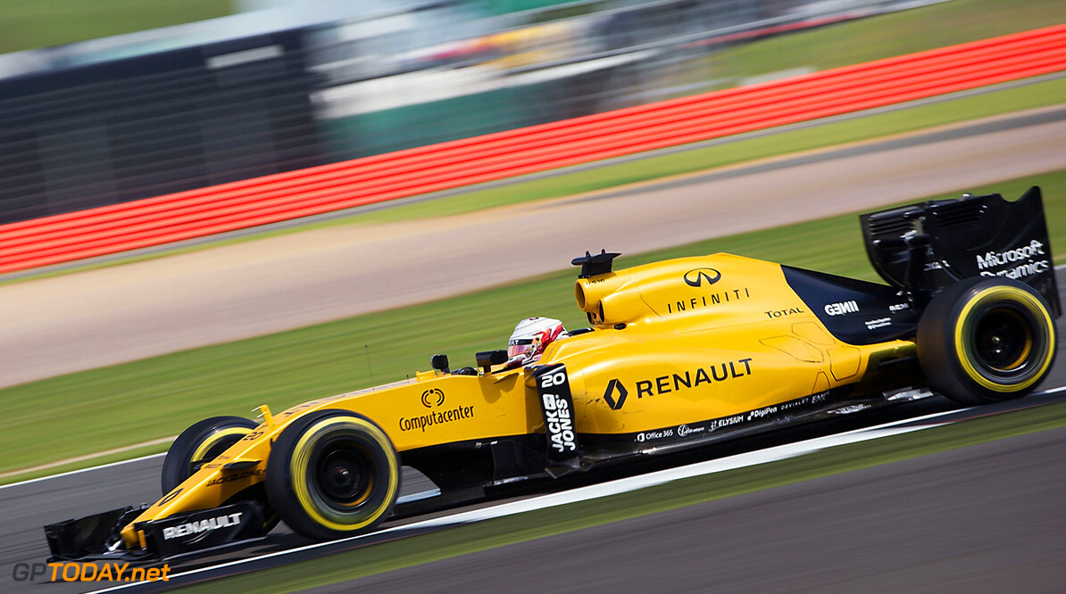 Formula One World Championship Kevin Magnussen (DEN) Renault Sport F1 Team RS16. British Grand Prix, Friday 8th July 2016. Silverstone, England. Motor Racing - Formula One World Championship - British Grand Prix - Practice Day - Silverstone, England Renault Sport Formula One Team Silverstone England  Formula One Formula 1 F1 GP Grand Prix Circuit Britain British England UK United Kingdom Silverstone JM595 Action Track GP1610b