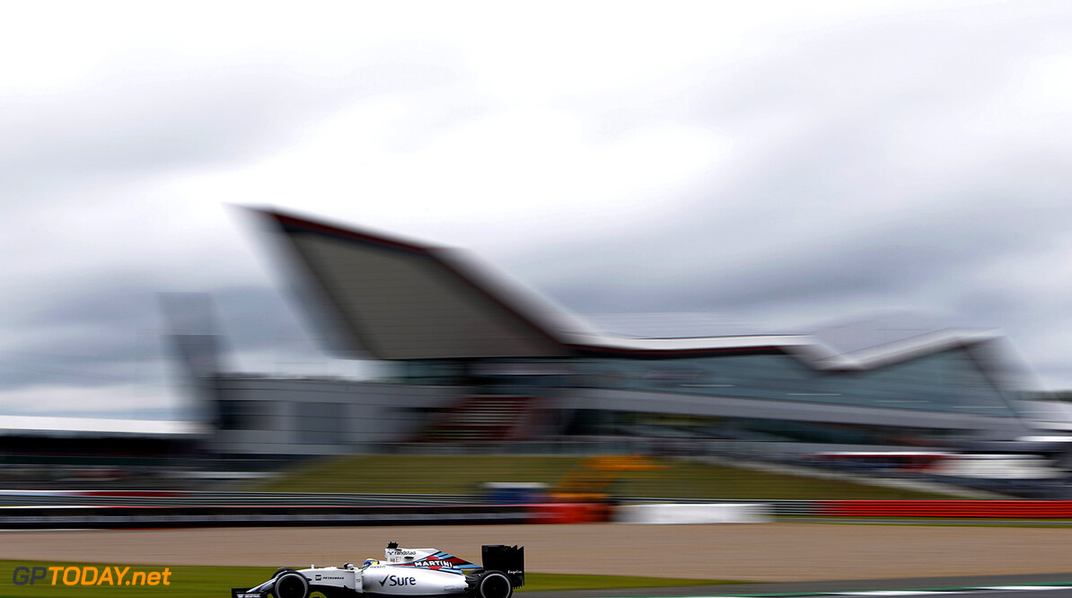 Silverstone, Northamptonshire, UK. Friday 8 July 2016. Felipe Massa, Williams FW38 Mercedes. Photo: Andrew Ferraro/Williams ref: Digital Image _FER8982      Action