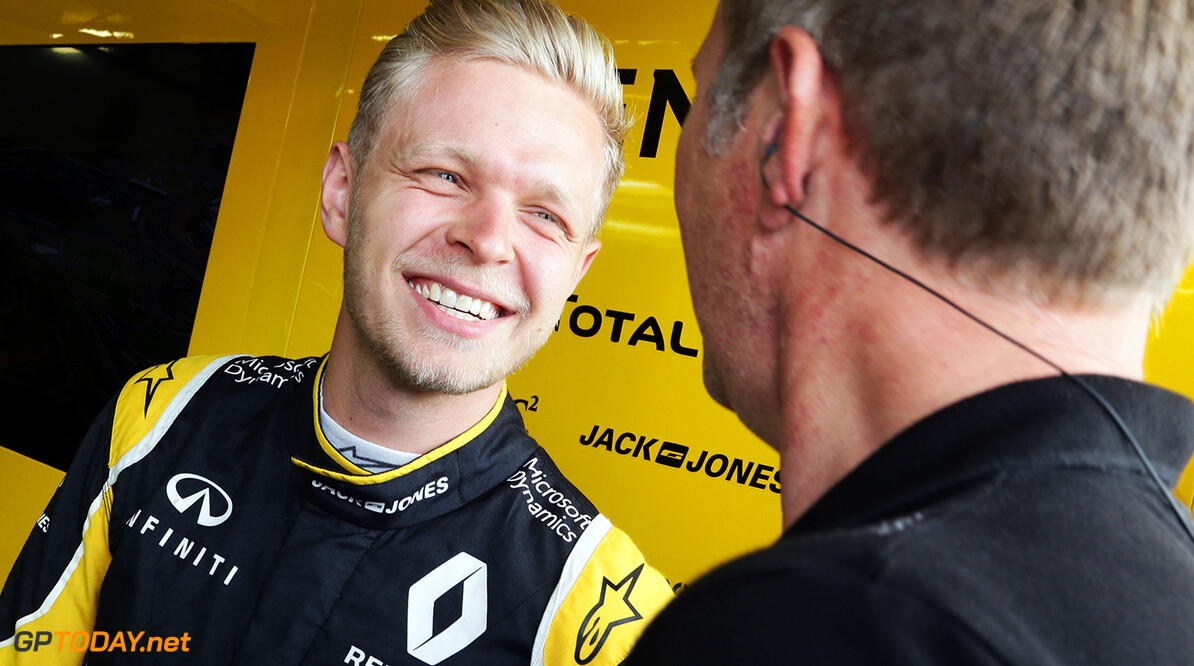 Formula One World Championship Kevin Magnussen (DEN) Renault Sport F1 Team. British Grand Prix, Friday 8th July 2016. Silverstone, England. Motor Racing - Formula One World Championship - British Grand Prix - Practice Day - Silverstone, England Renault Sport Formula One Team Silverstone England  Formula One Formula 1 F1 GP Grand Prix Circuit Britain British England UK United Kingdom Silverstone JM595 Portrait GP1610b