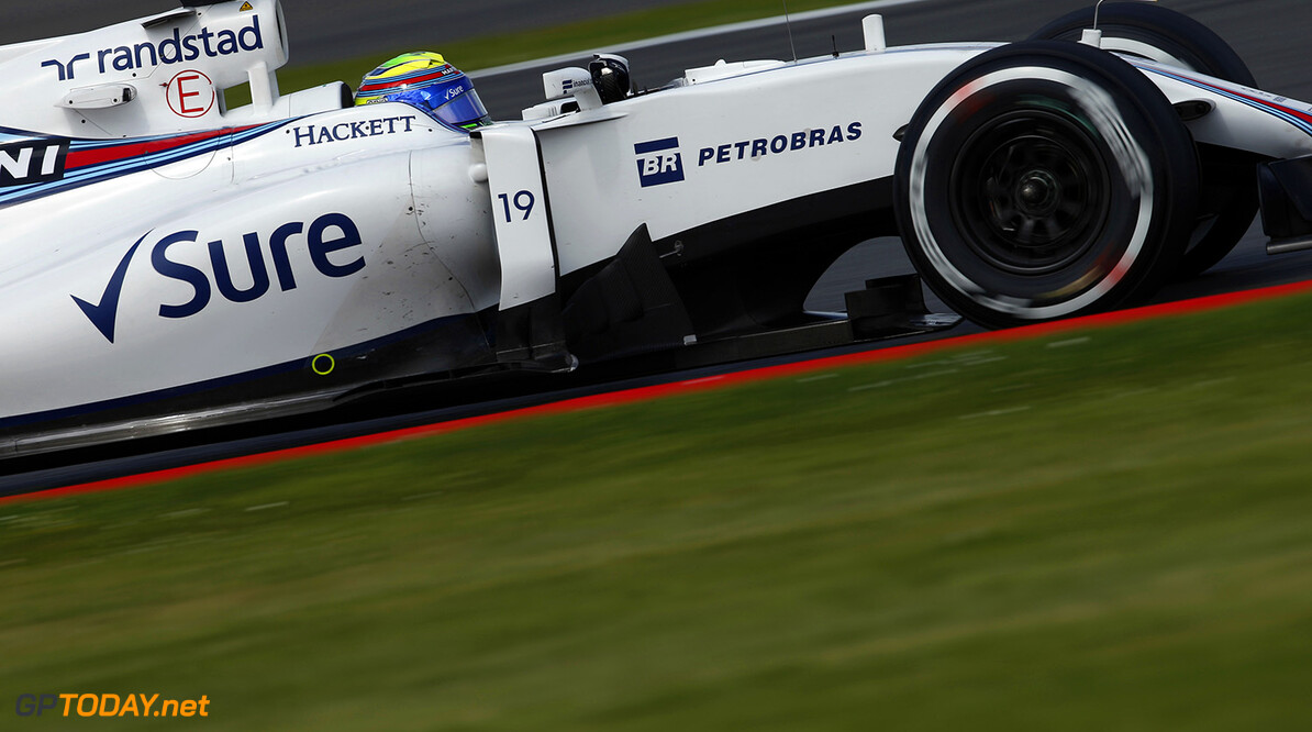 Silverstone, Northamptonshire, UK. Friday 8 July 2016. Felipe Massa, Williams FW38 Mercedes. Photo: Glenn Dunbar/Williams ref: Digital Image _W2Q3971      Action