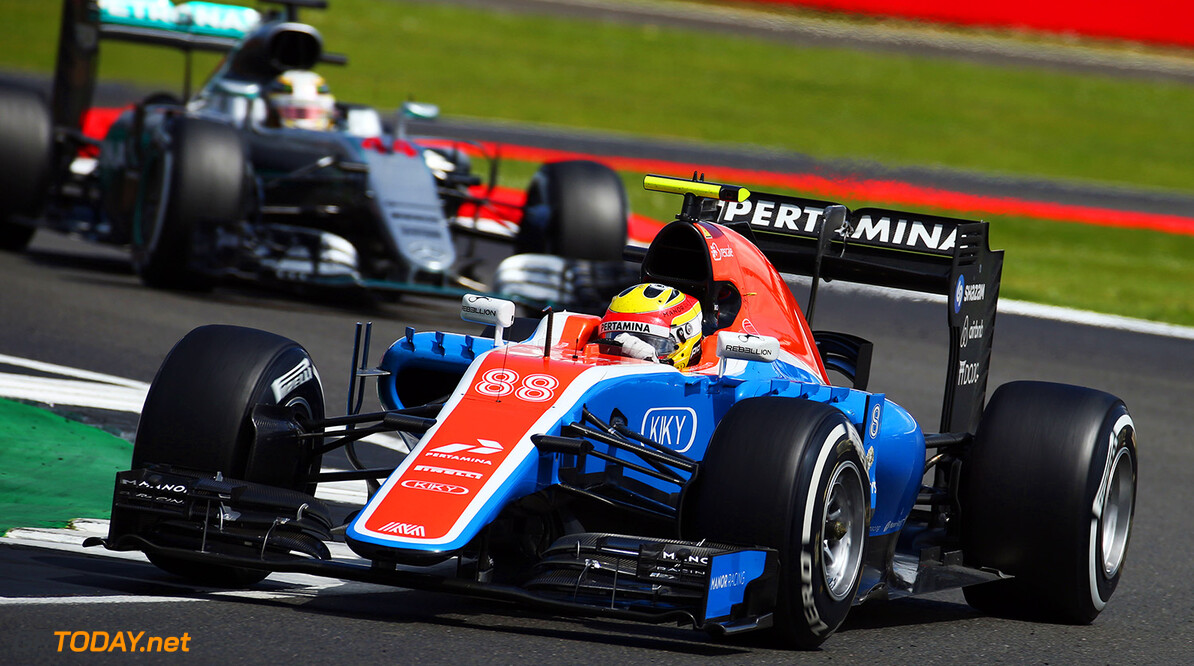 Formula One World Championship Rio Haryanto (IDN) Manor Racing MRT05. 10.07.2016. Formula 1 World Championship, Rd 10, British Grand Prix, Silverstone, England, Race Day. Motor Racing - Formula One World Championship - British Grand Prix - Race Day - Silverstone, England Manor Racing Silverstone England  Formel1 Formel F1 Formula 1 Formula1 GP Grand Prix one Circuit Silverstone England Britain British United Kingdom UK Sunday 10 07 7 2016 Action Track