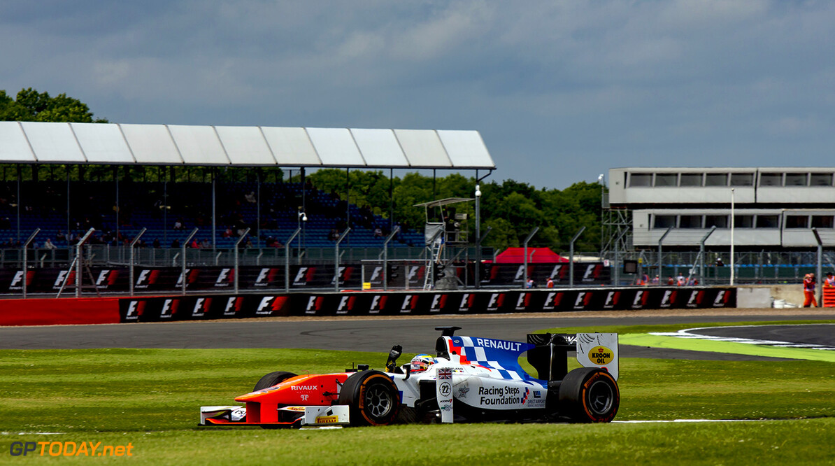 2016 GP2 Series Round 5.  Silverstone, Northamptonshire, UK. Saturday 9 July 2016. Oliver Rowland (GBR, MP Motorsport)  Photo: Zak Mauger/GP2 Series Media Service. ref: Digital Image _79P7184   Zak Mauger    Race One 1 Feature action