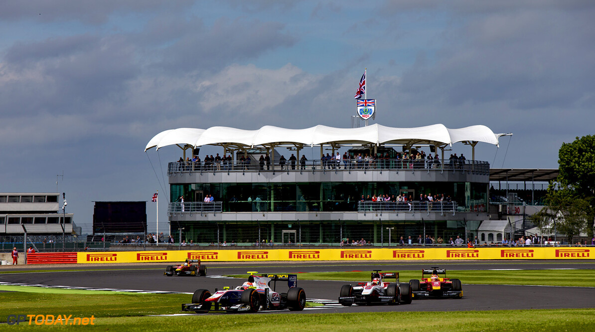 2016 GP2 Series Round 5.  Silverstone, Northamptonshire, UK. Saturday 9 July 2016. Luca Ghiotto (ITA, Trident)  Photo: Zak Mauger/GP2 Series Media Service. ref: Digital Image _79P7180   Zak Mauger    Race One 1 Feature action