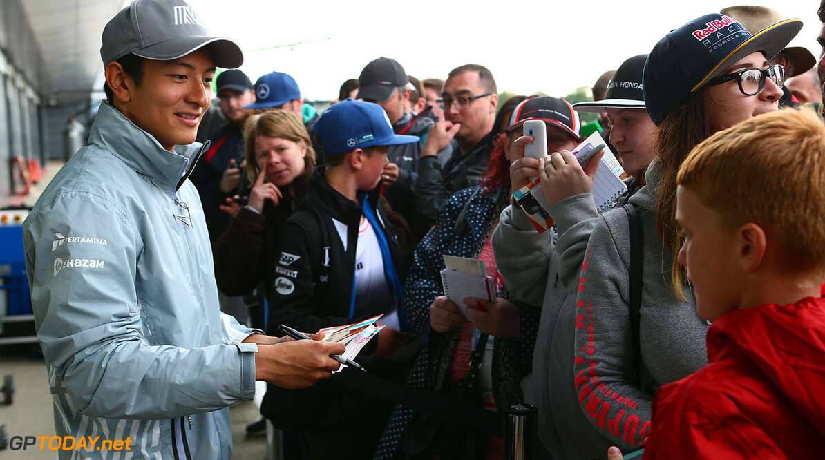 Formula One World Championship Rio Haryanto (IDN) Manor Racing Autograph session. 12.07.2016. Formula One In-Season Testing, Day One, Silverstone, England. Tuesday. Motor Racing - Formula One Testing - In-Season Test - Day 1 -  Silverstone, England Manor Racing Silverstone England  Formel1 Formel F1 Formula 1 Formula1 one Circuit Silverstone England Britain British United Kingdom UK Tuesday 12 07 7 2016 Testing Test In Season In-Season portrait