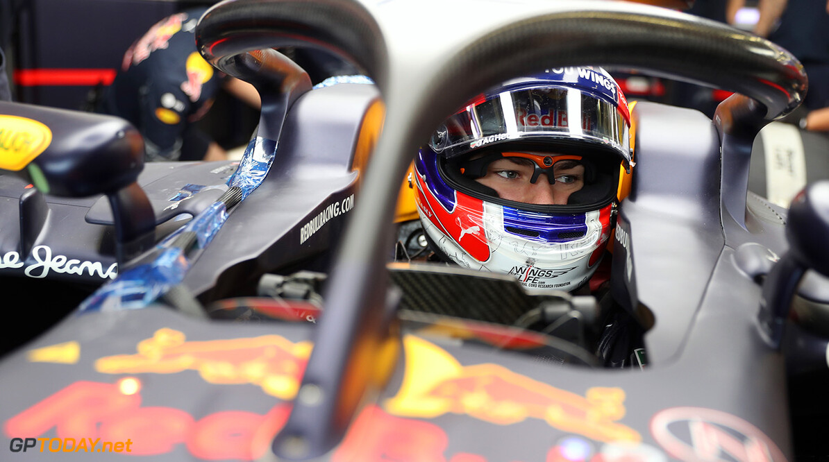 NORTHAMPTON, ENGLAND - JULY 12:  Pierre Gasly of  France and Red Bull Racing drives the Red Bull-TAG Heuer RB12 fitted with the halo safety device during F1 testing at Silverstone Circuit on July 12, 2016 in Northampton, England.  (Photo by Mark Thompson/Getty Images) // Getty Images / Red Bull Content Pool  // P-20160712-00333 // Usage for editorial use only // Please go to www.redbullcontentpool.com for further information. //  F1 Testing at Silverstone Mark Thompson Silverstone United Kingdom  P-20160712-00333