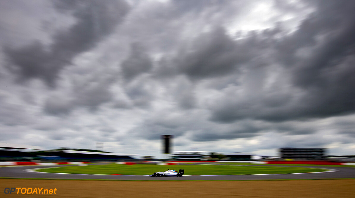 Silverstone, Northamptonshire, UK. Tuesday 12 July 2016. Alex Lynn, Williams FW38 Mercedes. Photo: Zak Mauger/Wiliams F1 ref: Digital Image _L0U6873  Zak Mauger    f1 formula 1 formula one gb great britain test testing action