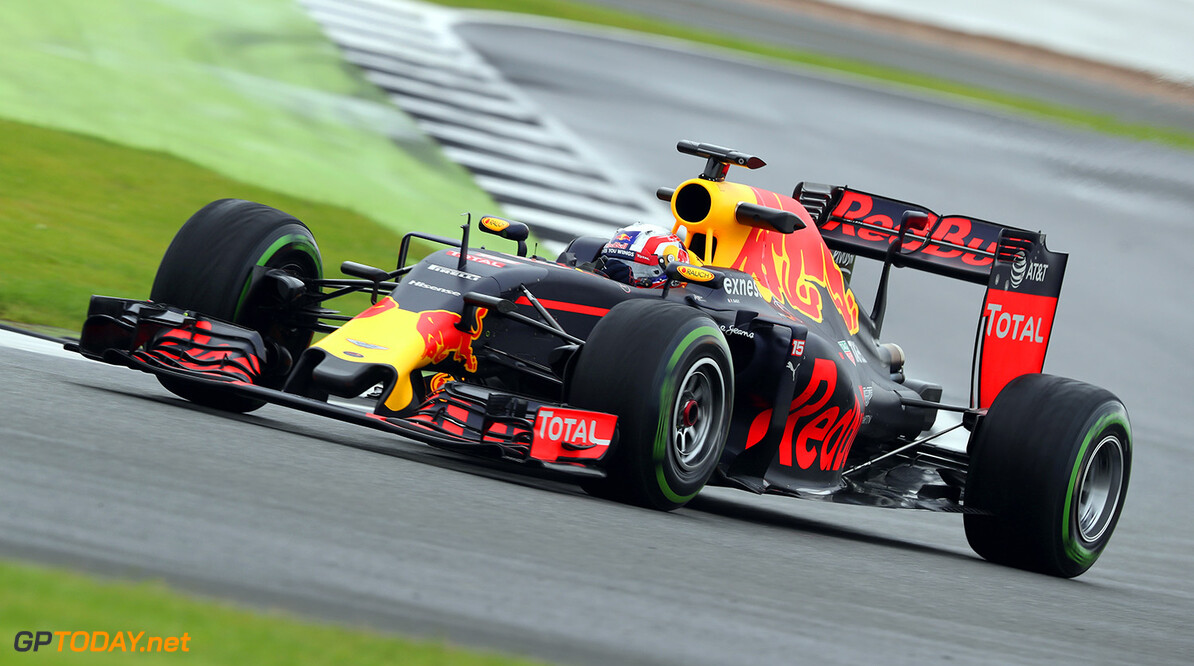 NORTHAMPTON, ENGLAND - JULY 12:  Pierre Gasly of  France and Red Bull Racing drives the Red Bull-TAG Heuer RB12 during F1 testing at Silverstone Circuit on July 12, 2016 in Northampton, England.  (Photo by Mark Thompson/Getty Images) // Getty Images / Red Bull Content Pool  // P-20160712-00988 // Usage for editorial use only // Please go to www.redbullcontentpool.com for further information. //  F1 Testing at Silverstone Mark Thompson Silverstone United Kingdom  P-20160712-00988