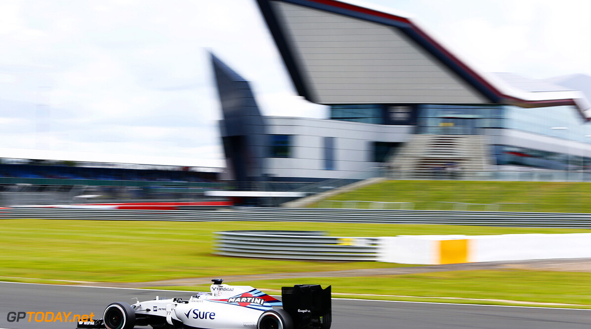 Silverstone, Northamptonshire, UK. Wednesday 13 July 2016. Valtteri Bottas, Williams FW38 Mercedes. Photo: Zak Mauger/Wiliams F1 ref: Digital Image _L0U8145  Zak Mauger    f1 formula 1 formula one gb great britain test testing action