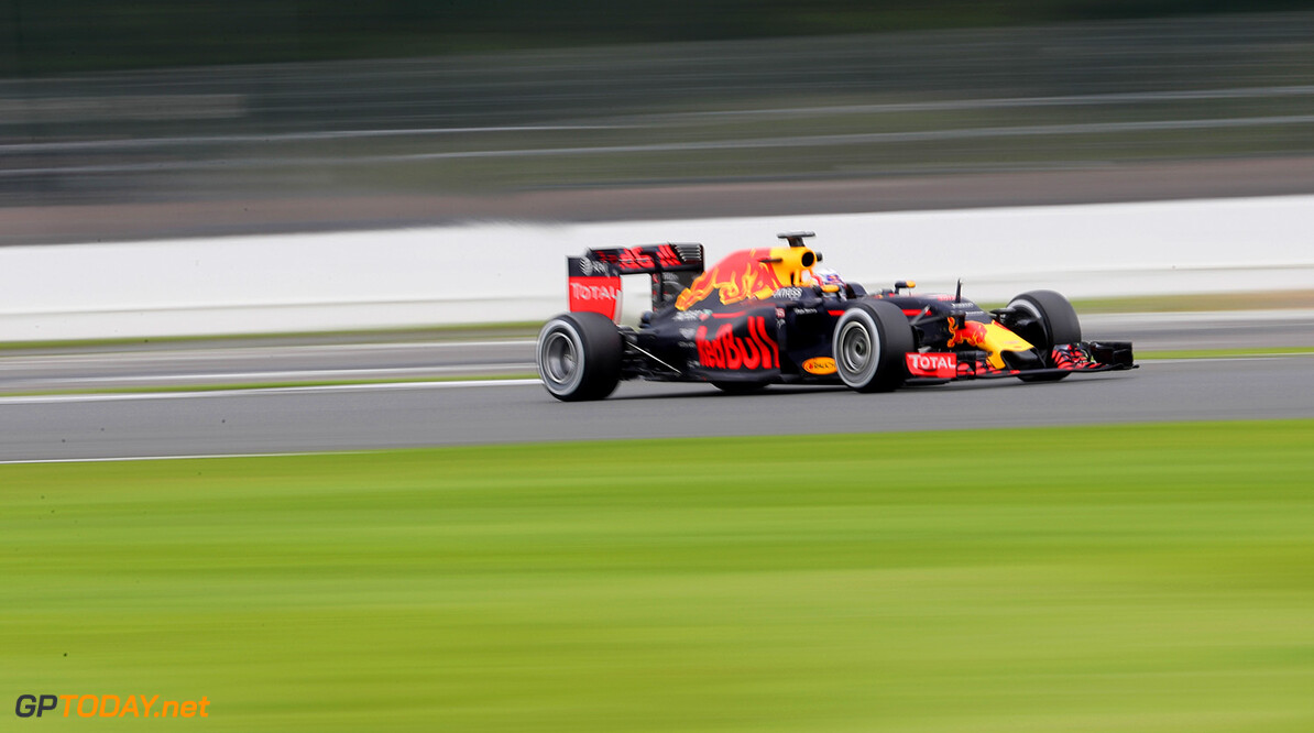 NORTHAMPTON, ENGLAND - JULY 13:  Pierre Gasly of  France and Red Bull Racing drives the Red Bull-TAG Heuer RB12 during F1 testing at Silverstone Circuit on July 13, 2016 in Northampton, England.  (Photo by Mark Thompson/Getty Images) // Getty Images / Red Bull Content Pool  // P-20160713-01017 // Usage for editorial use only // Please go to www.redbullcontentpool.com for further information. //  F1 Testing at Silverstone Mark Thompson Silverstone United Kingdom  P-20160713-01017