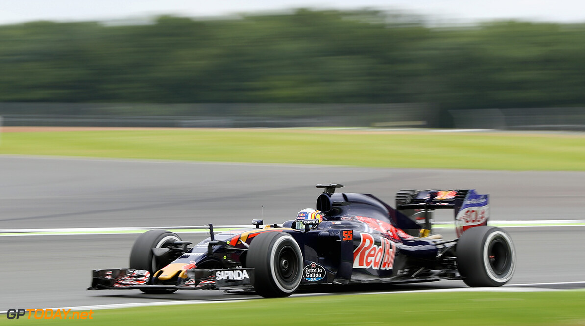 NORTHAMPTON, ENGLAND - JULY 12:  Carlos Sainz of Spain driving the (55) Scuderia Toro Rosso STR11 Ferrari 060/5 turbo on track during F1 testing at Silverstone Circuit on July 12, 2016 in Northampton, England.  (Photo by Mark Thompson/Getty Images) // Getty Images / Red Bull Content Pool  // P-20160712-00609 // Usage for editorial use only // Please go to www.redbullcontentpool.com for further information. //  F1 Testing at Silverstone Mark Thompson Silverstone United Kingdom  P-20160712-00609