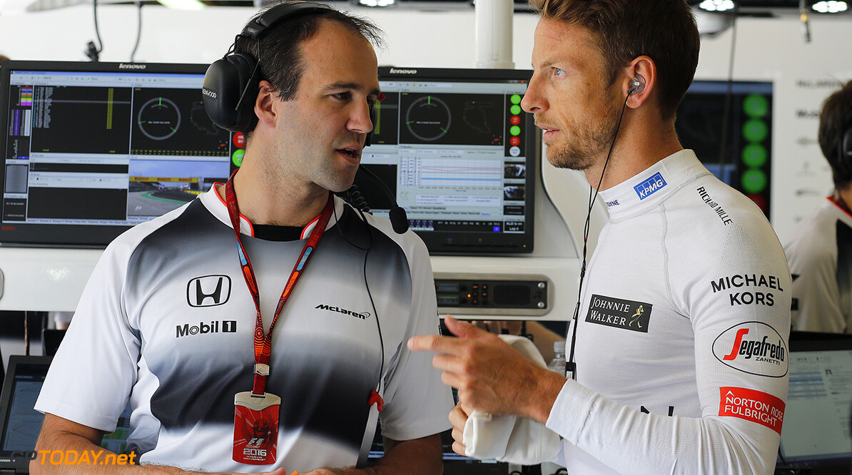 Jenson Button and Tom Stallard.