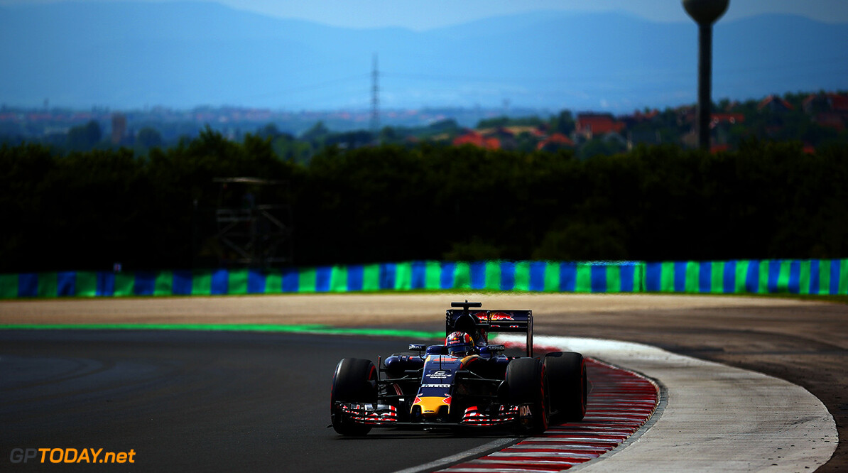 BUDAPEST, HUNGARY - JULY 23:  Daniil Kvyat of Russia drives the 3 Scuderia Toro Rosso STR11 Ferrari 060/5 turbo during qualifying for the Formula One Grand Prix of Hungary at Hungaroring on July 23, 2016 in Budapest, Hungary.  (Photo by Dan Istitene/Getty Images) // Getty Images / Red Bull Content Pool  // P-20160723-02297 // Usage for editorial use only // Please go to www.redbullcontentpool.com for further information. //  F1 Grand Prix of Hungary - Qualifying Dan Istitene Budapest Hungary  P-20160723-02297
