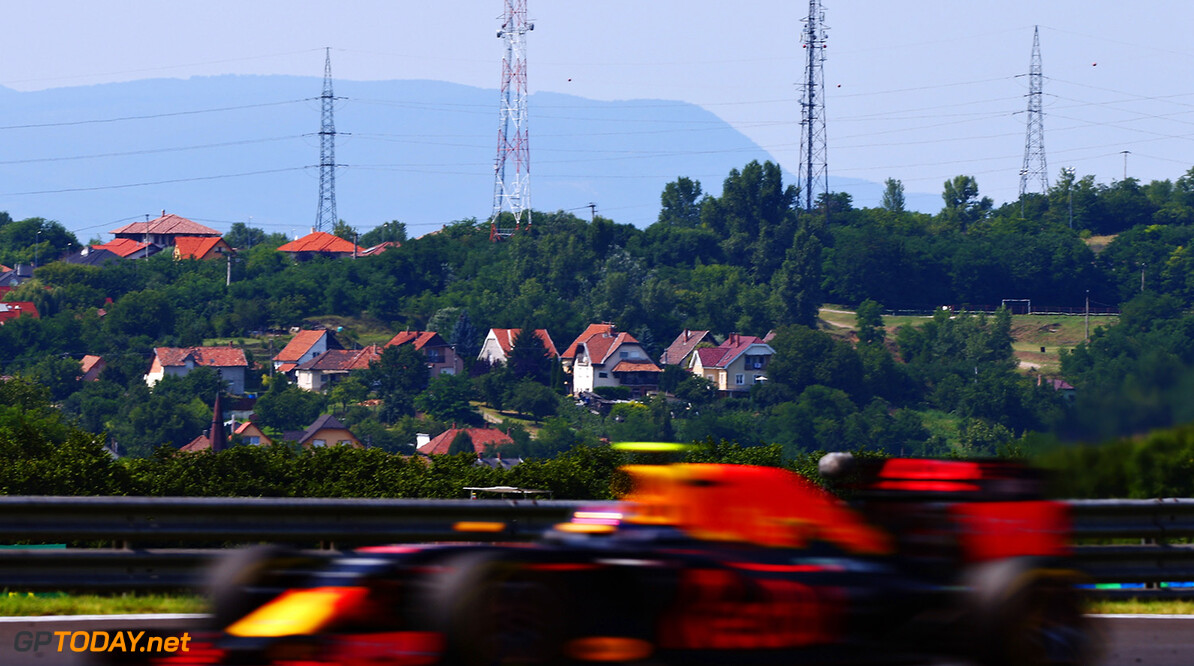 BUDAPEST, HUNGARY - JULY 24:  Max Verstappen of the Netherlands driving the (33) Red Bull Racing Red Bull-TAG Heuer RB12 TAG Heuer on track during the Formula One Grand Prix of Hungary at Hungaroring on July 24, 2016 in Budapest, Hungary.  (Photo by Dan Istitene/Getty Images) // Getty Images / Red Bull Content Pool  // P-20160724-00484 // Usage for editorial use only // Please go to www.redbullcontentpool.com for further information. //  F1 Grand Prix of Hungary Dan Istitene Budapest Hungary  P-20160724-00484