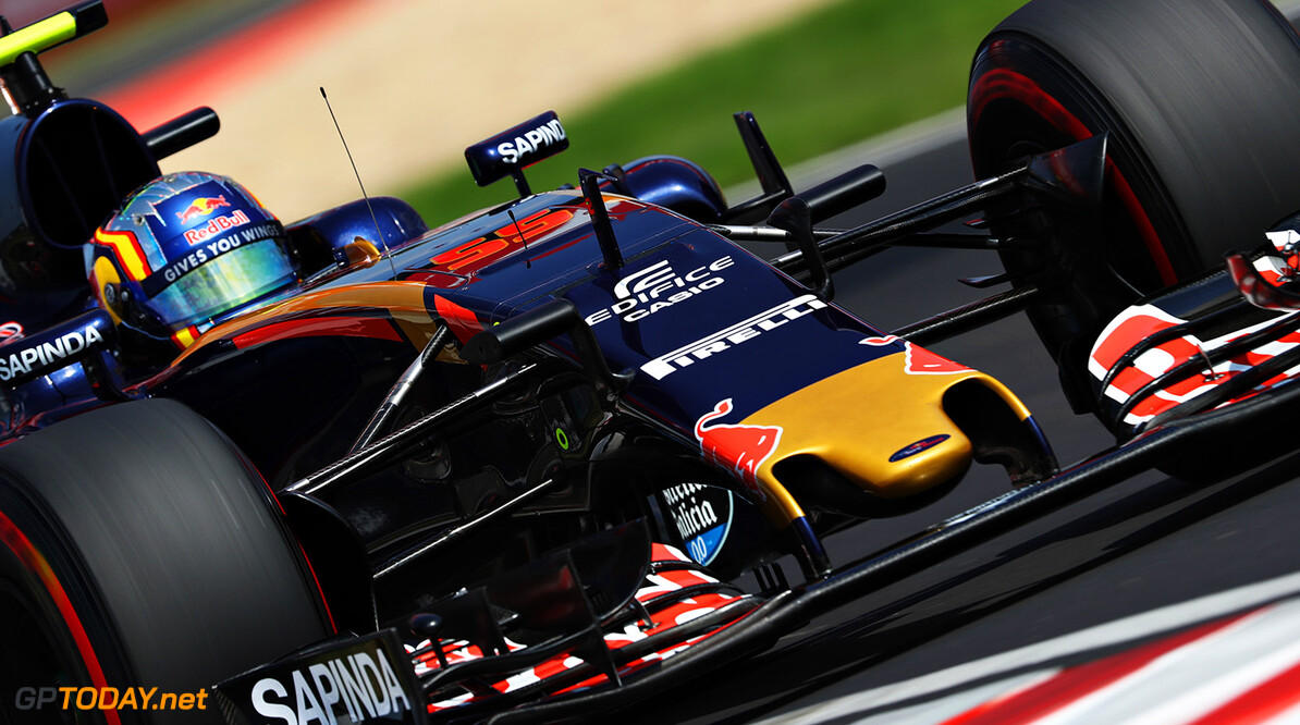 BUDAPEST, HUNGARY - JULY 23: Carlos Sainz of Spain driving the (55) Scuderia Toro Rosso STR11 Ferrari 060/5 turbo on track during final practice for the Formula One Grand Prix of Hungary at Hungaroring on July 23, 2016 in Budapest, Hungary.  (Photo by Mark Thompson/Getty Images) // Getty Images / Red Bull Content Pool  // P-20160723-01405 // Usage for editorial use only // Please go to www.redbullcontentpool.com for further information. //  F1 Grand Prix of Hungary - Qualifying Mark Thompson Budapest Hungary  P-20160723-01405