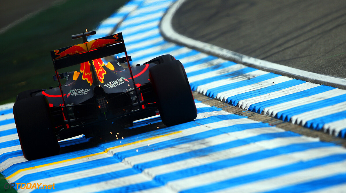 HOCKENHEIM, GERMANY - JULY 29:  Daniel Ricciardo of Australia drives the  Red Bull Racing Red Bull-TAG Heuer RB12 TAG Heuer during practice for the Formula One Grand Prix of Germany at Hockenheimring on July 29, 2016 in Hockenheim, Germany.  (Photo by Dan Istitene/Getty Images) // Getty Images / Red Bull Content Pool  // P-20160729-00736 // Usage for editorial use only // Please go to www.redbullcontentpool.com for further information. //  F1 Grand Prix of Germany - Practice Dan Istitene Hockenheim Germany  P-20160729-00736