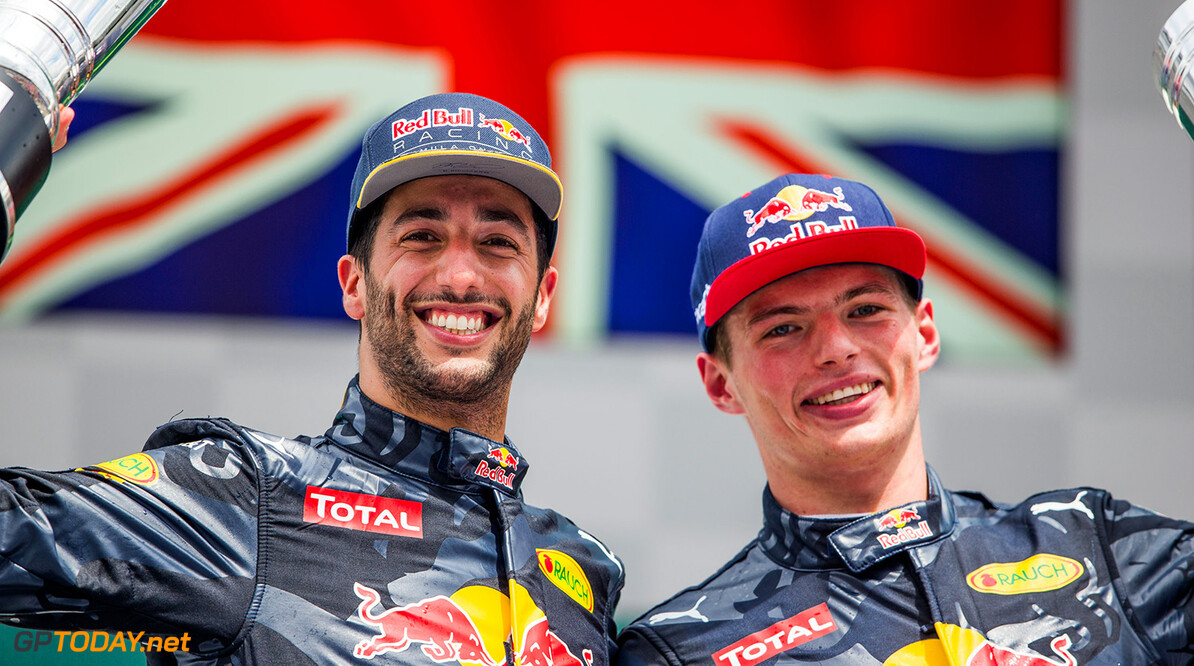 HOCKENHEIM, GERMANY - JULY 31:  Daniel Ricciardo of Australia and Max Verstappen of The Netherlands both of Red Bull Racing during the Formula One Grand Prix of Germany at Hockenheimring on July 31, 2016 in Hockenheim, Germany.  (Photo by Peter Fox/Getty Images) // Getty Images / Red Bull Content Pool  // P-20160731-00860 // Usage for editorial use only // Please go to www.redbullcontentpool.com for further information. //  F1 Grand Prix of Germany Peter Fox Hockenheim Germany  P-20160731-00860