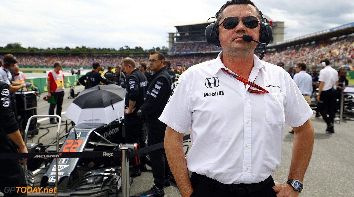 Eric Boullier, Racing Director, McLaren, on the grid.