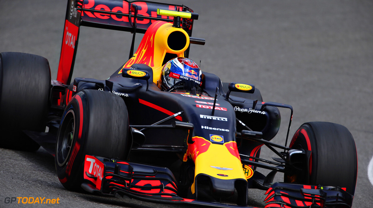 HOCKENHEIM, GERMANY - JULY 31: Max Verstappen of the Netherlands driving the (33) Red Bull Racing Red Bull-TAG Heuer RB12 TAG Heuer on track during the Formula One Grand Prix of Germany at Hockenheimring on July 31, 2016 in Hockenheim, Germany.  (Photo by Charles Coates/Getty Images) // Getty Images / Red Bull Content Pool  // P-20160731-01770 // Usage for editorial use only // Please go to www.redbullcontentpool.com for further information. //  F1 Grand Prix of Germany Charles Coates Hockenheim Germany  P-20160731-01770
